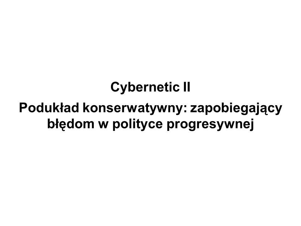 Cybernetic II Podukład konserwatywny: zapobiegający błędom w polityce progresywnej