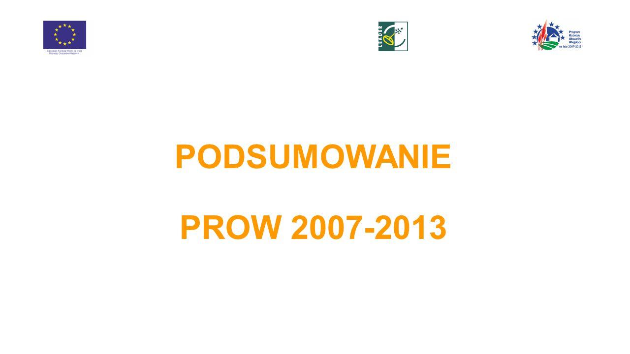 PODSUMOWANIE PROW 2007-2013