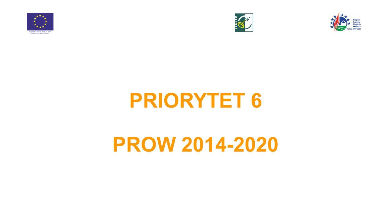 PRIORYTET 6 PROW 2014-2020