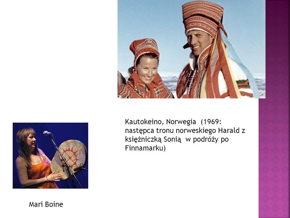 Kautokeino, Norwegia (1969: następca tronu norweskiego Harald z księżniczką Sonią w podróży po Finnamarku) Mari Boine