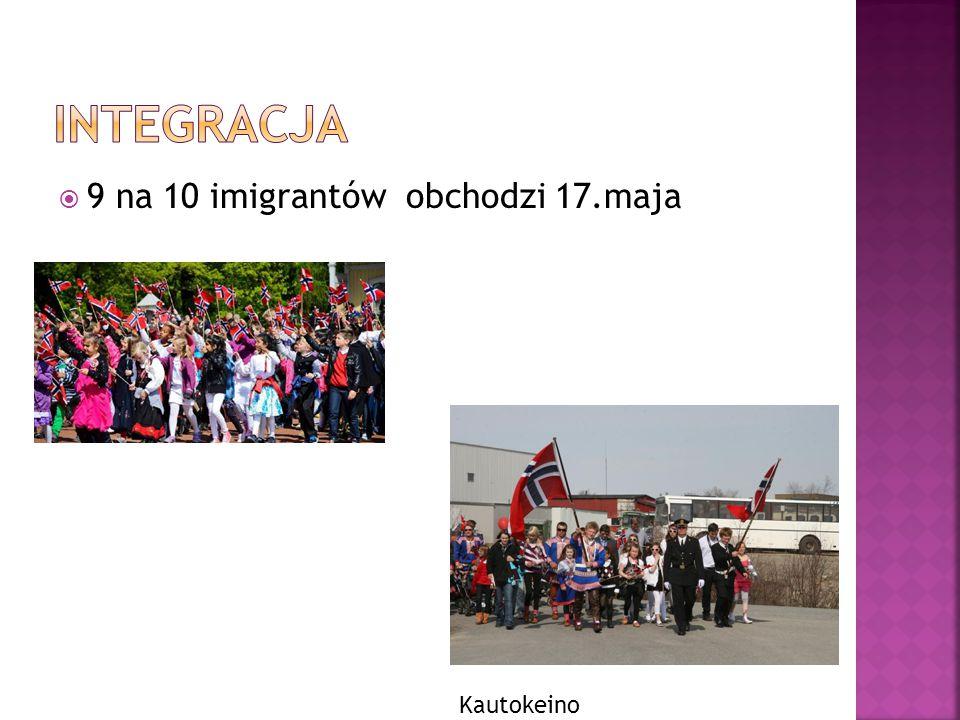  9 na 10 imigrantów obchodzi 17.maja Kautokeino