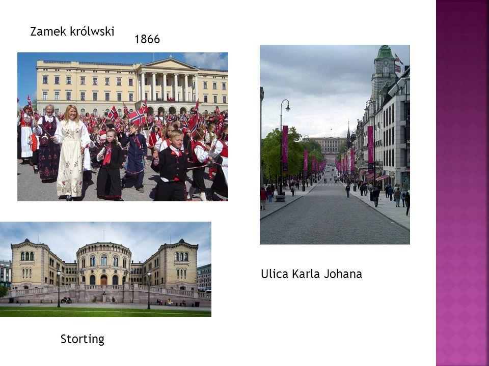Zamek królwski Storting Ulica Karla Johana 1866