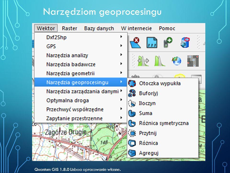 Narzędziom geoprocesingu Quantum GIS 1.8.0 Lisboa opracowanie własne.