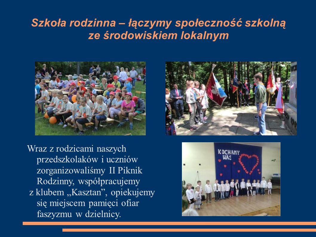 Szkoła rodzinna – łączymy społeczność szkolną ze środowiskiem lokalnym Wraz z rodzicami naszych przedszkolaków i uczniów zorganizowaliśmy II Piknik Ro