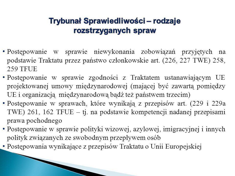 Postępowanie w sprawie niewykonania zobowiązań przyjętych na podstawie Traktatu przez państwo członkowskie art.