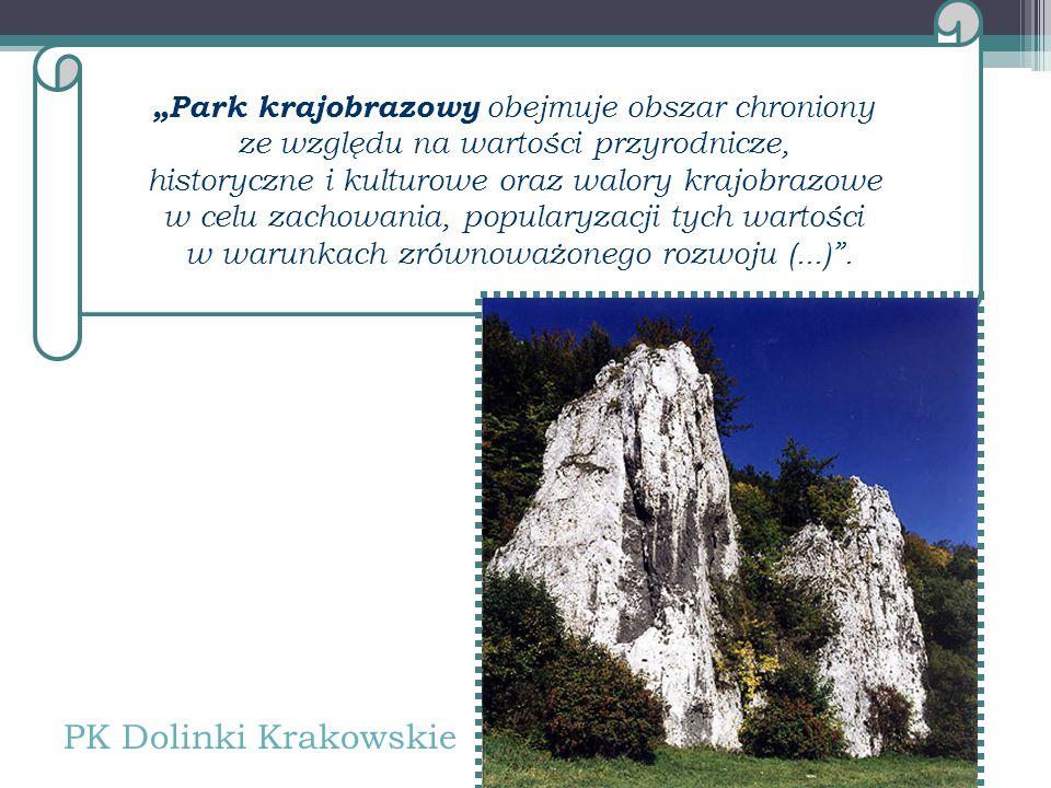 """""""Park krajobrazowy obejmuje obszar chroniony ze względu na wartości przyrodnicze, historyczne i kulturowe oraz walory krajobrazowe w celu zachowania, popularyzacji tych wartości w warunkach zrównoważonego rozwoju (...) ."""