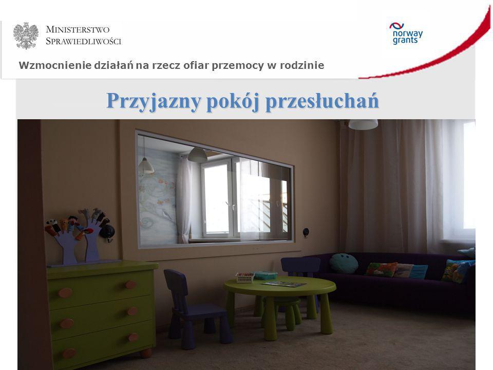 Wzmocnienie działań na rzecz ofiar przemocy w rodzinie Przyjazny pokój przesłuchań