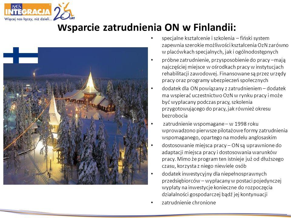 Wsparcie zatrudnienia ON w Finlandii: specjalne kształcenie i szkolenia – fiński system zapewnia szerokie możliwości kształcenia OzN zarówno w placówk