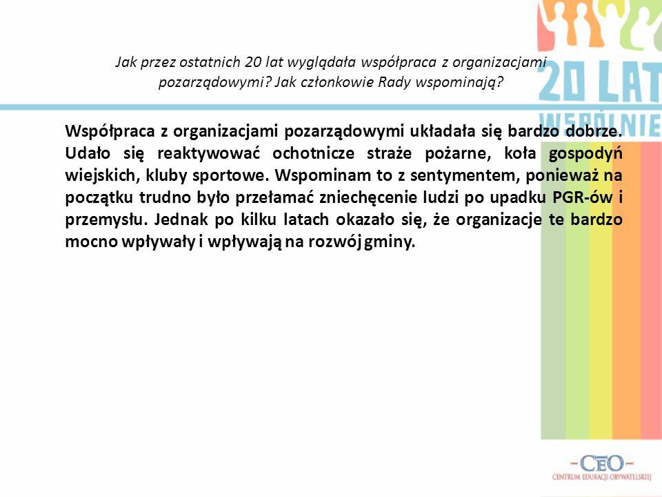 Jak przez ostatnich 20 lat wyglądała współpraca z organizacjami pozarządowymi? Jak członkowie Rady wspominają? Współpraca z organizacjami pozarządowym