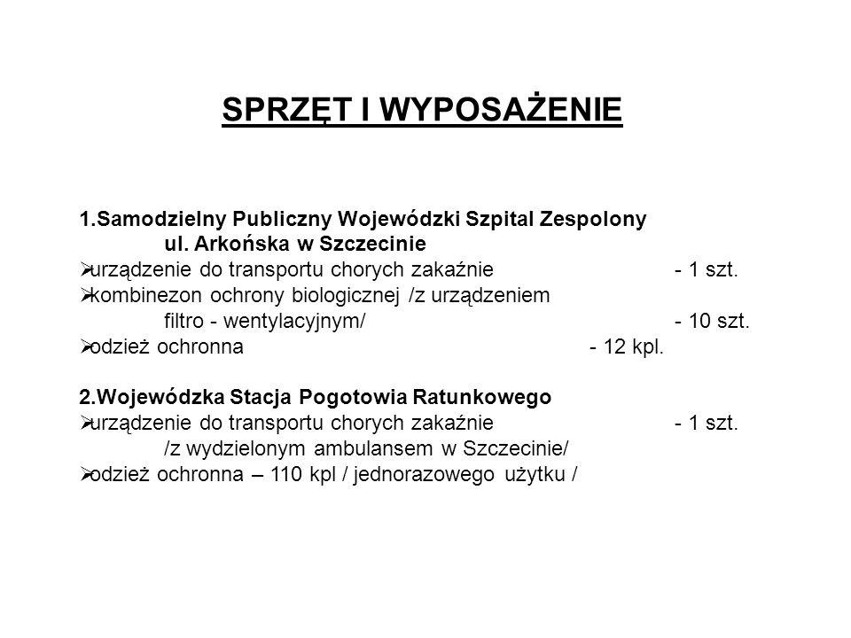 SPRZĘT I WYPOSAŻENIE 1.Samodzielny Publiczny Wojewódzki Szpital Zespolony ul.