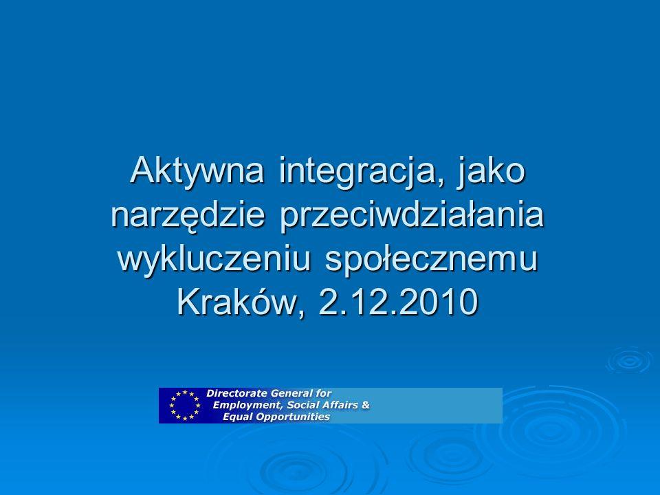 Aktywna integracja, jako narzędzie przeciwdziałania wykluczeniu społecznemu Kraków, 2.12.2010