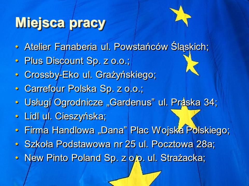Miejsca pracy Atelier Fanaberia ul. Powstańców Śląskich; Plus Discount Sp.
