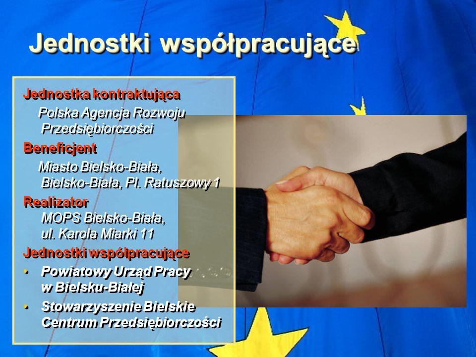 Jednostki współpracujące Jednostka kontraktująca Polska Agencja Rozwoju Przedsiębiorczości Beneficjent Miasto Bielsko-Biała, Bielsko-Biała, Pl. Ratusz