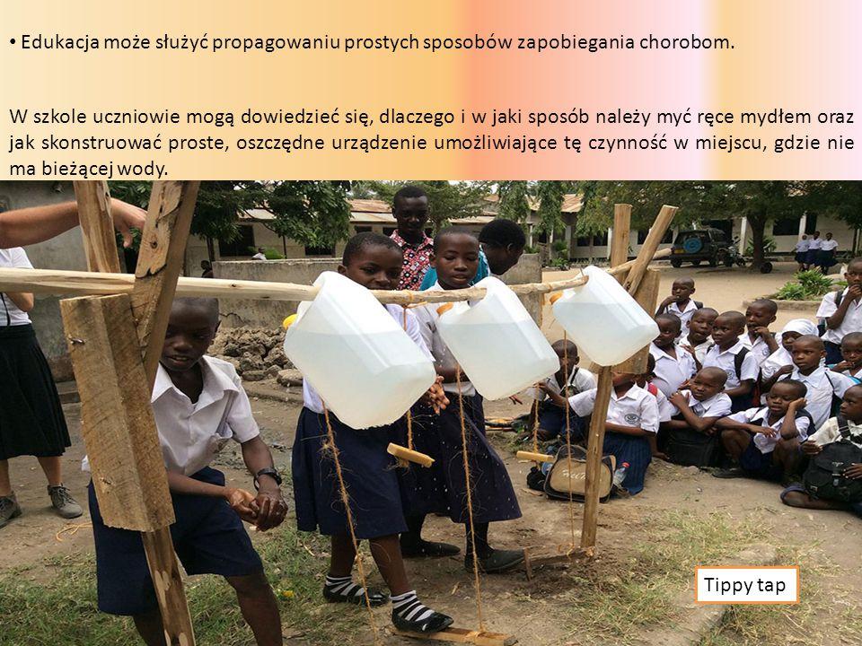 Edukacja może służyć propagowaniu prostych sposobów zapobiegania chorobom.
