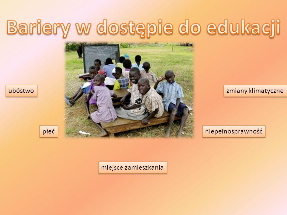 ubóstwo  choroby  niedożywienie i brak dostępu do wody  brak środków finansowych - zakup zeszytów i podręczników - zakup przyborów szkolnych - opłacenie nauki -AIDS - malaria - przenoszona jest przez komary.