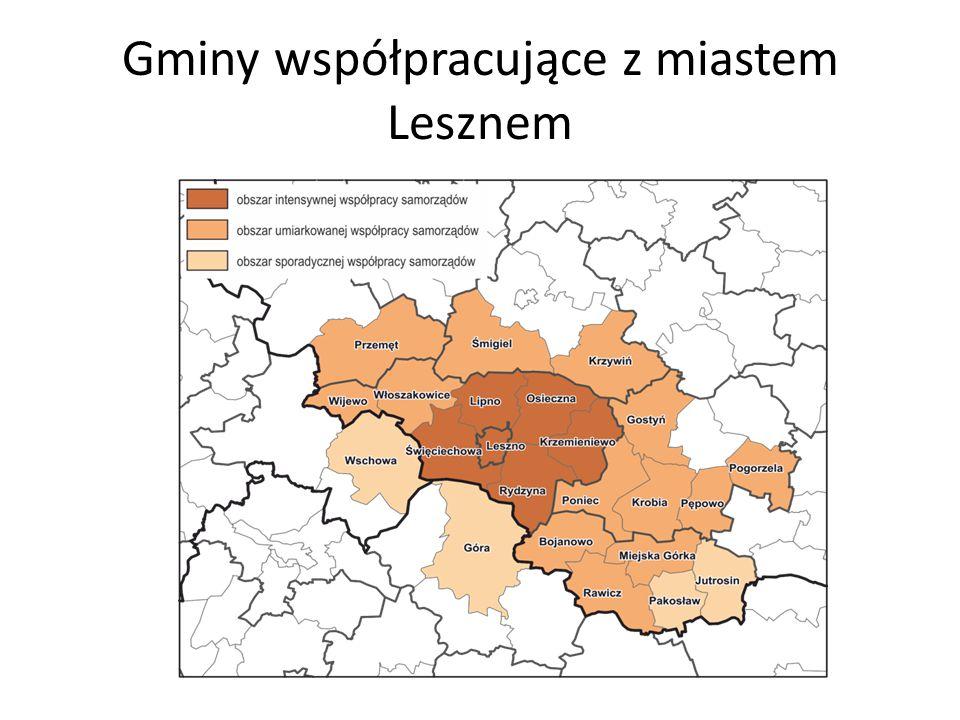Gminy współpracujące z miastem Lesznem