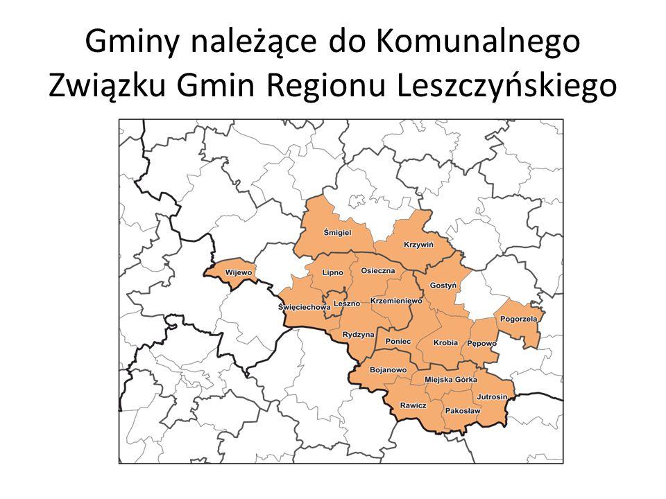 Gminy należące do Komunalnego Związku Gmin Regionu Leszczyńskiego