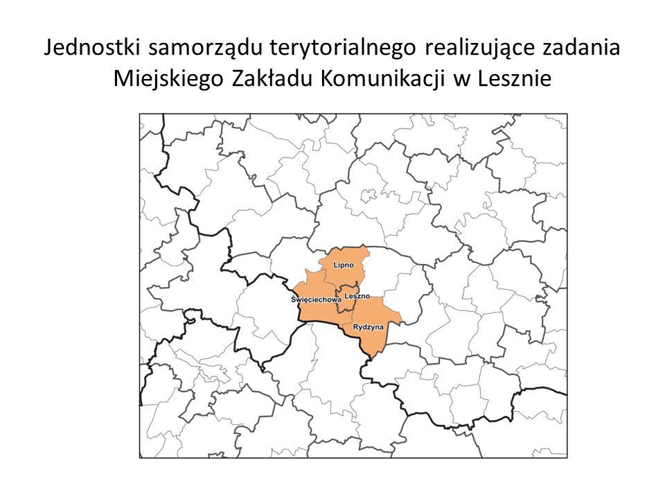 Jednostki samorządu terytorialnego realizujące zadania Miejskiego Zakładu Komunikacji w Lesznie