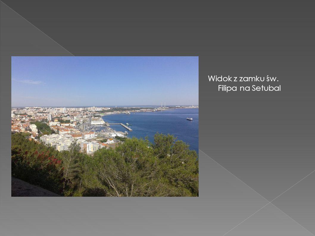 Widok z zamku św. Filipa na Setubal