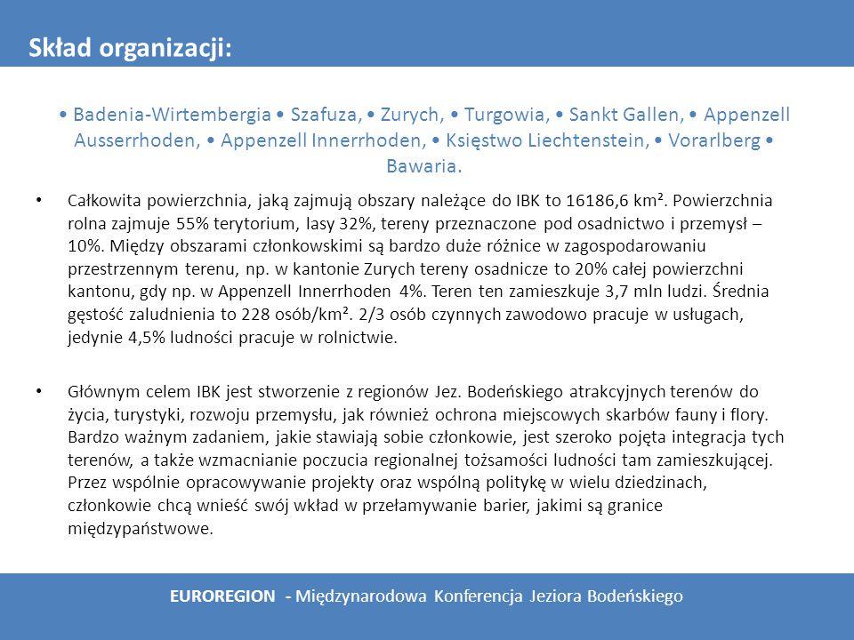 """środowisko naturalne – jedna z najważniejszych komisji IBK, powstała wraz z powołaniem IBK do życia, zajmuje się koordynowaniem działań regionów członkowskich w celu ochrony środowiska naturalnego, ze szczególnym uwzględnieniem wód lądowych; obecnie realizuje program """"Gemeinsam für Boden und See – cykl wystaw i festiwali promujących dbanie o nasza planetę; komisja powołała także m.in.."""