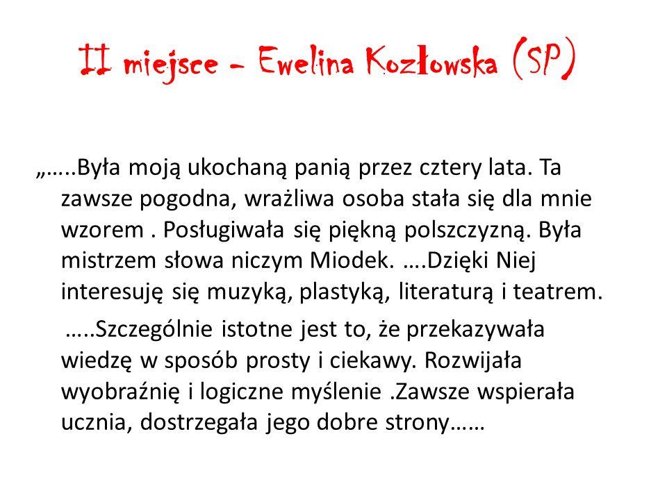 """Wyró ż nienie - Patryk Marek Szymenderski (PG) """"…Pani …to osoba twórcza i ekspresyjna…."""