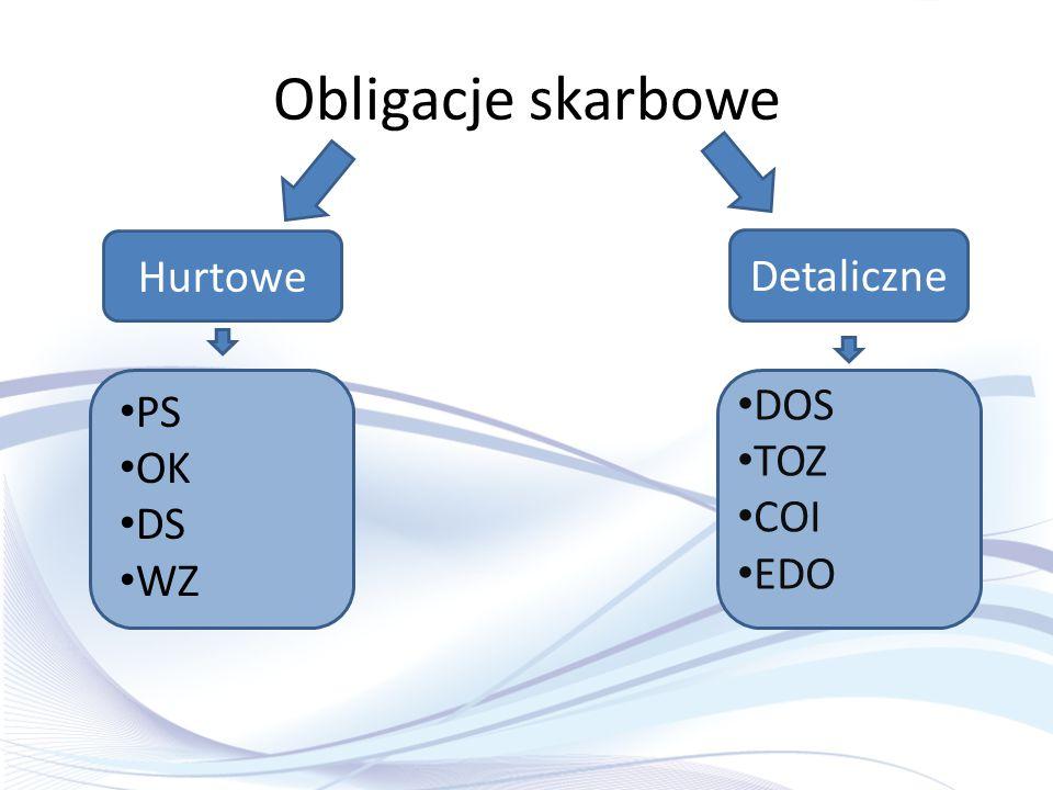 Obligacje skarbowe Hurtowe Detaliczne PS OK DS WZ DOS TOZ COI EDO