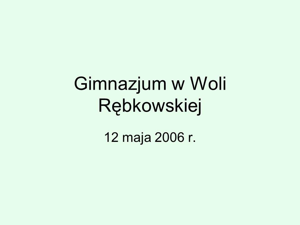 Gimnazjum w Woli Rębkowskiej 12 maja 2006 r.