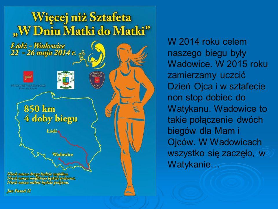 W 2014 roku celem naszego biegu były Wadowice.