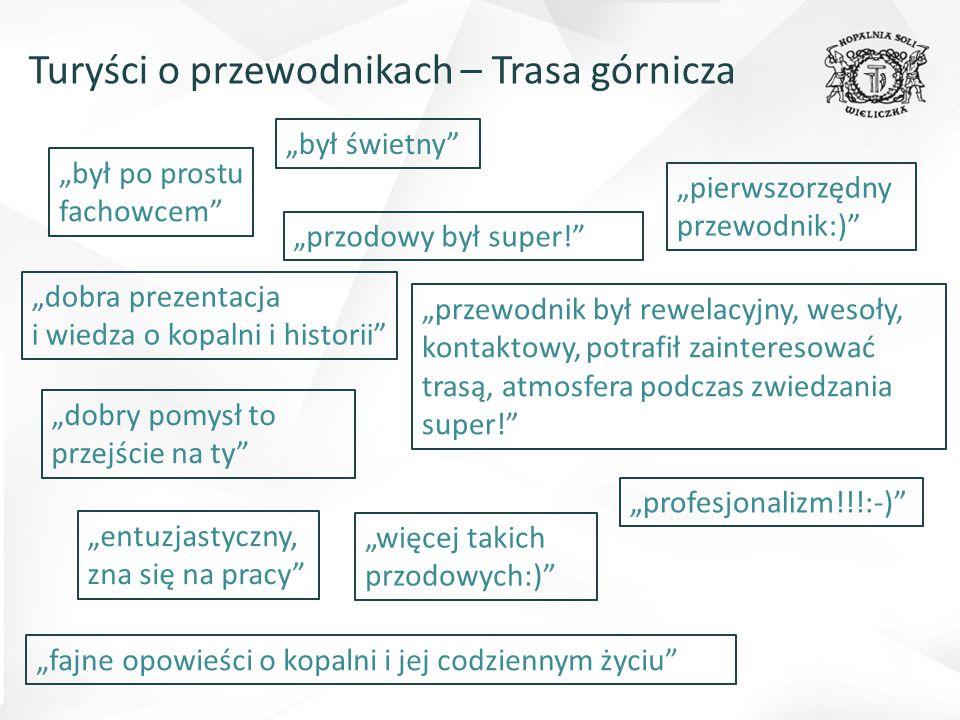 """Turyści o przewodnikach – Trasa górnicza """"był po prostu fachowcem"""" """"fajne opowieści o kopalni i jej codziennym życiu"""" """"dobry pomysł to przejście na ty"""