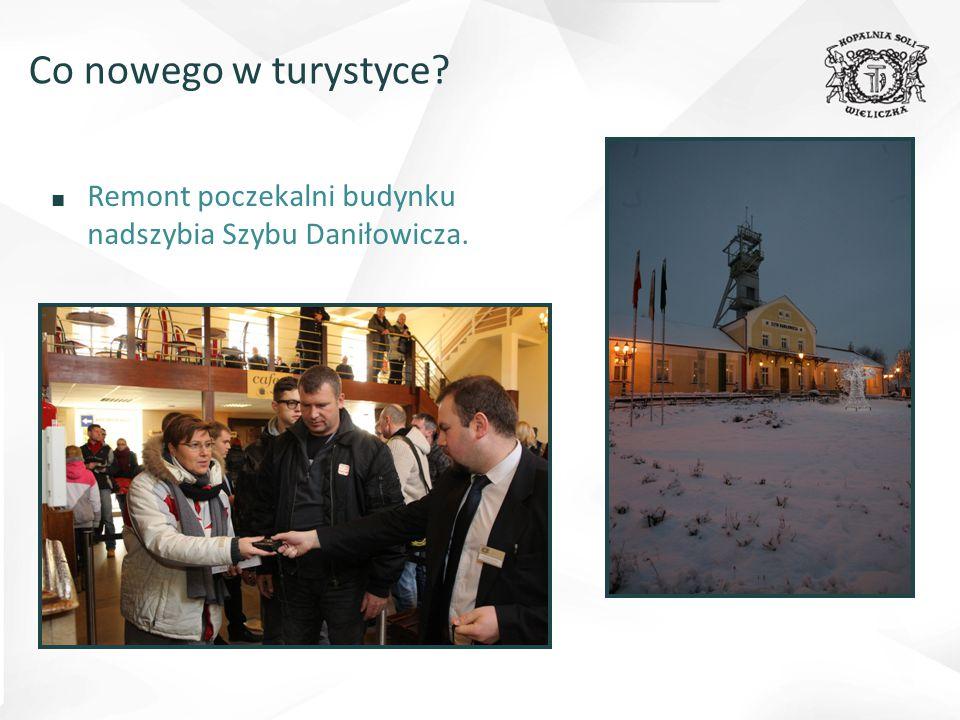 ■ Remont poczekalni budynku nadszybia Szybu Daniłowicza. Co nowego w turystyce?