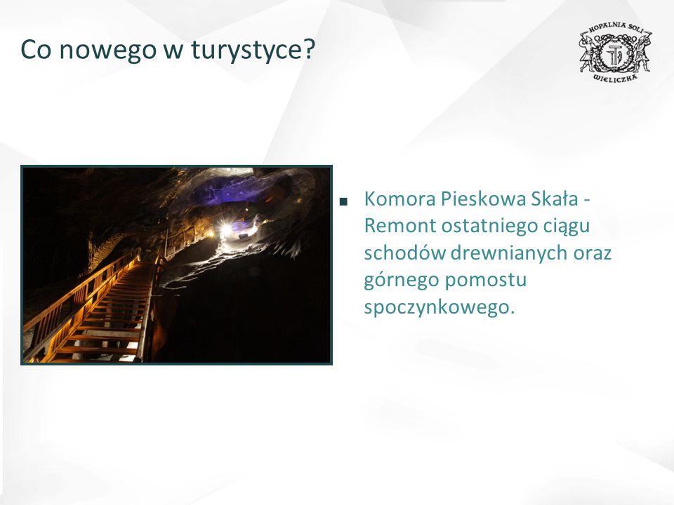 ■ Komora Pieskowa Skała - Remont ostatniego ciągu schodów drewnianych oraz górnego pomostu spoczynkowego.