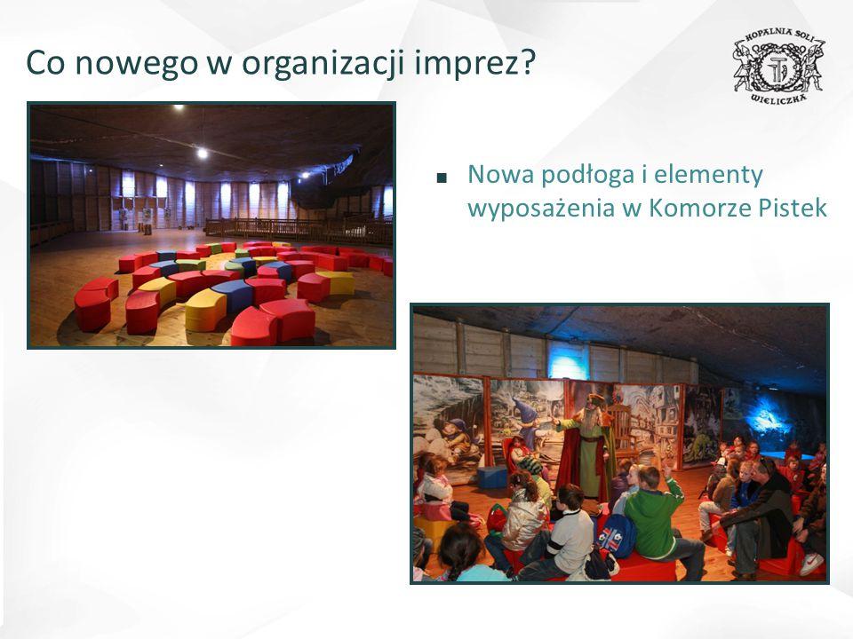 ■ Nowa podłoga i elementy wyposażenia w Komorze Pistek Co nowego w organizacji imprez?