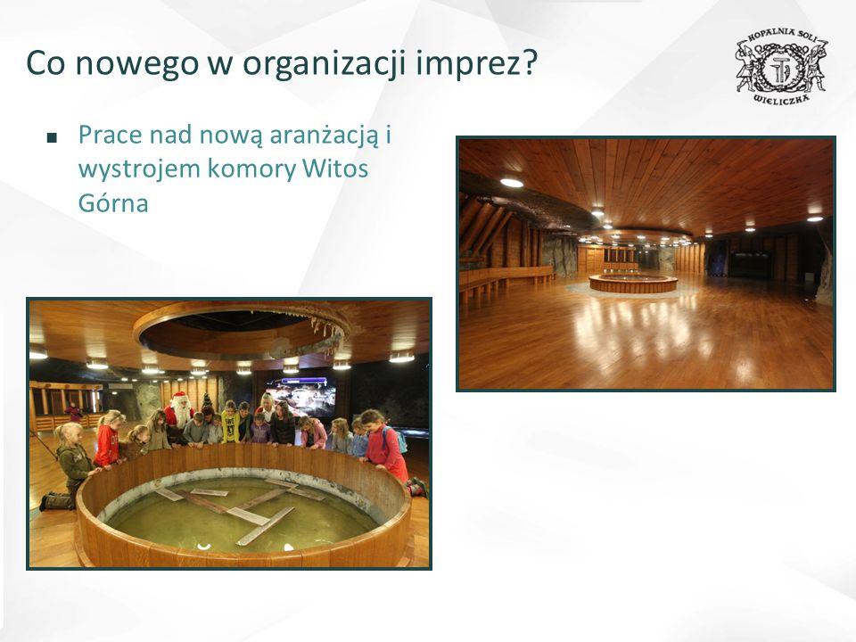 ■ Prace nad nową aranżacją i wystrojem komory Witos Górna Co nowego w organizacji imprez?