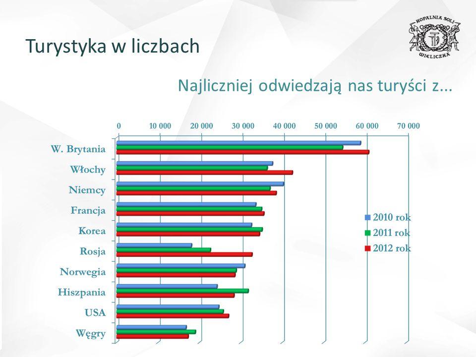 Struktura turystów 2012 Turystyka w liczbach
