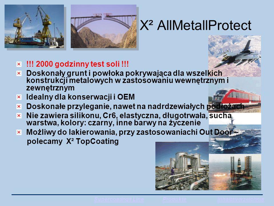 X² AllMetallProtect !!. 2000 godzinny test soli !!.