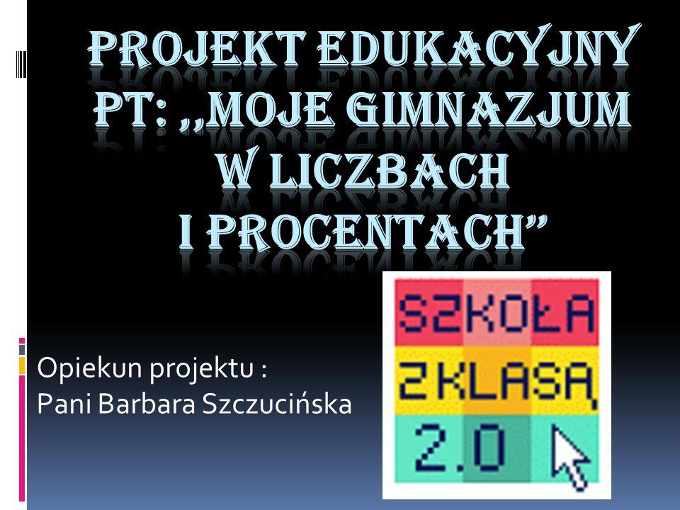Opiekun projektu : Pani Barbara Szczucińska