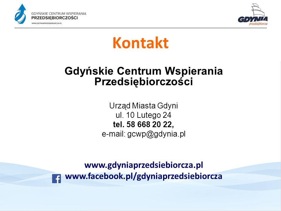Kontakt Gdyńskie Centrum Wspierania Przedsiębiorczości Urząd Miasta Gdyni ul.