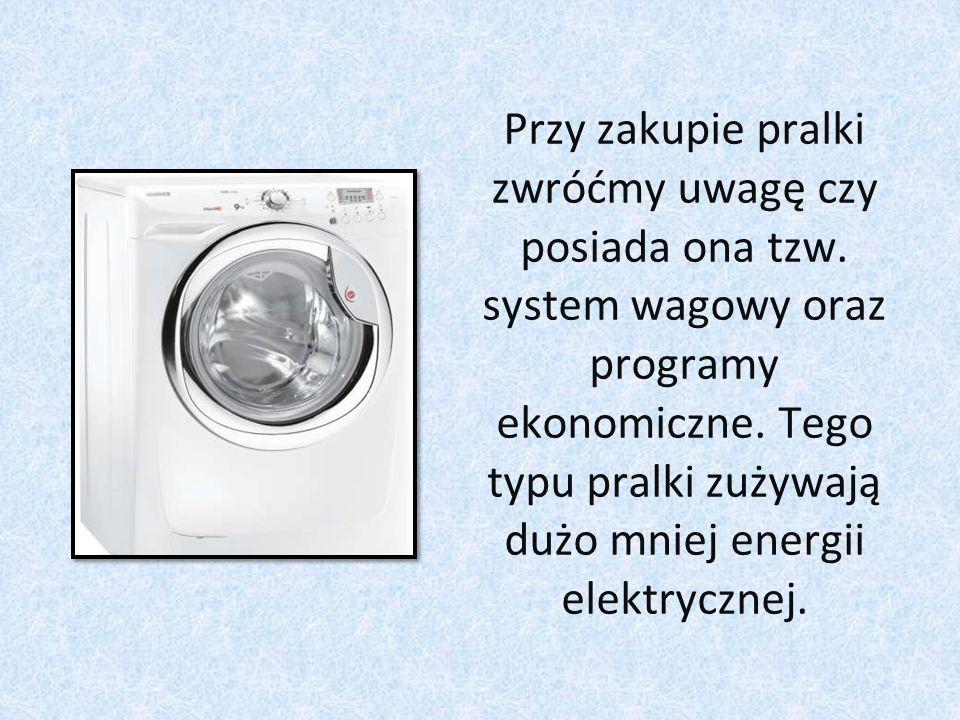 Przy zakupie pralki zwróćmy uwagę czy posiada ona tzw.