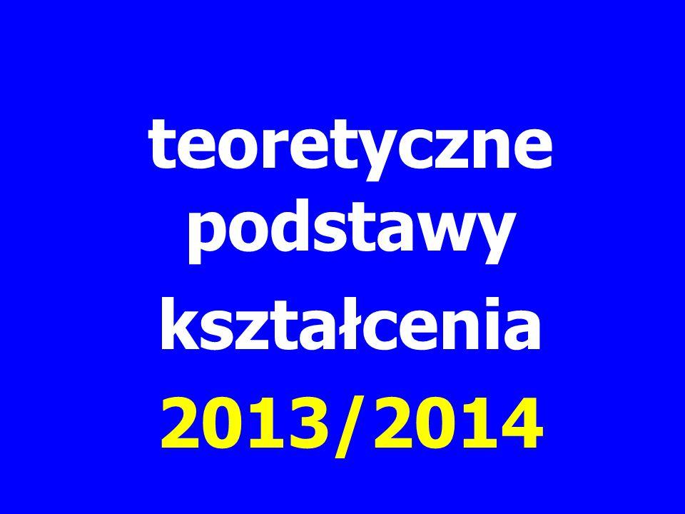 teoretyczne podstawy kształcenia 2013/2014