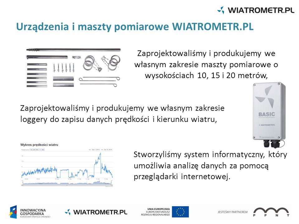 Urządzenia i maszty pomiarowe WIATROMETR.PL Zaprojektowaliśmy i produkujemy we własnym zakresie maszty pomiarowe o wysokościach 10, 15 i 20 metrów, Za