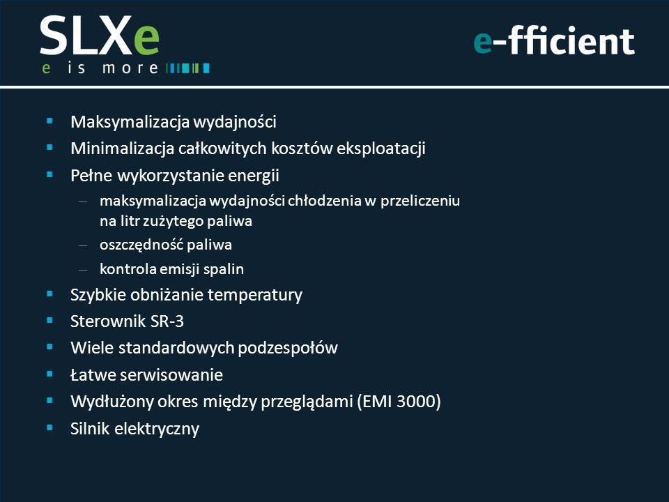  Maksymalizacja wydajności  Minimalizacja całkowitych kosztów eksploatacji  Pełne wykorzystanie energii – maksymalizacja wydajności chłodzenia w pr