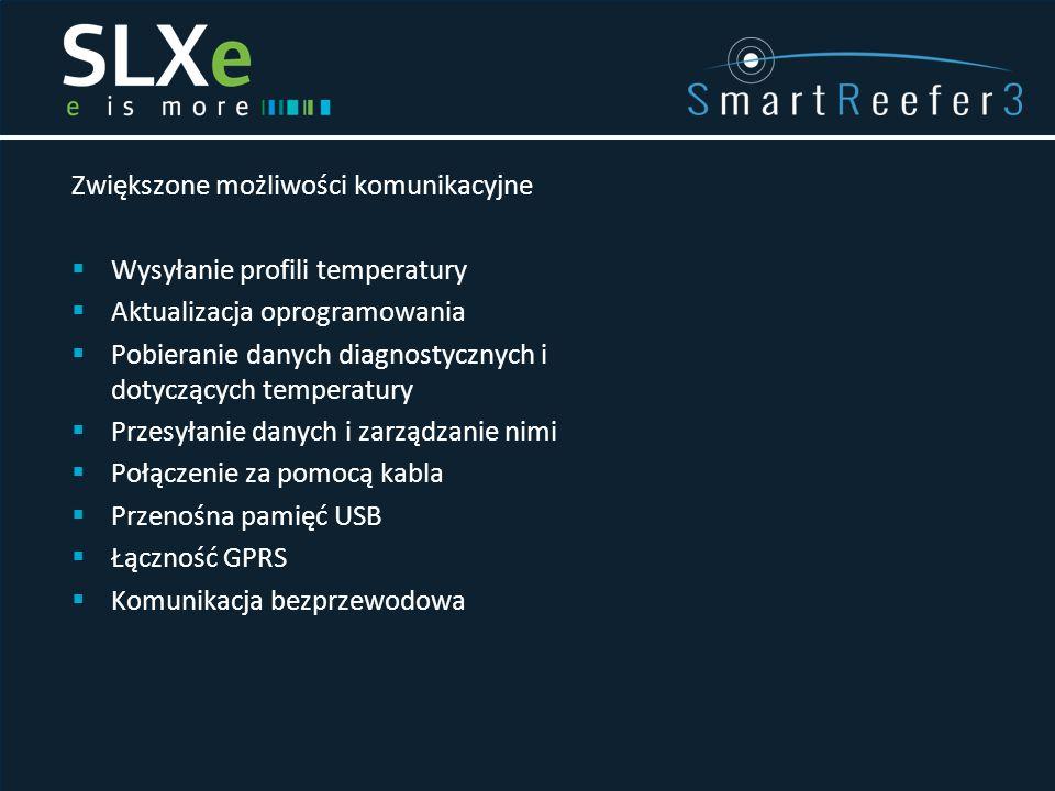 Zwiększone możliwości komunikacyjne  Wysyłanie profili temperatury  Aktualizacja oprogramowania  Pobieranie danych diagnostycznych i dotyczących te