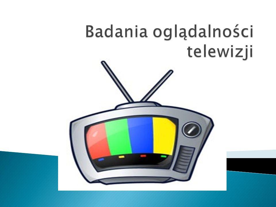  W mojej pracy chcę przedstawić wyniki badań dotyczące oglądalności telewizji w Polsce.