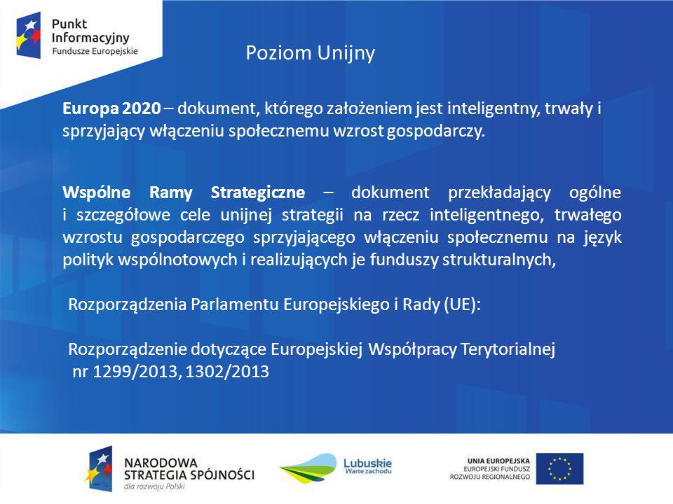 Europa 2020 – dokument, którego założeniem jest inteligentny, trwały i sprzyjający włączeniu społecznemu wzrost gospodarczy. Poziom Unijny Wspólne Ram