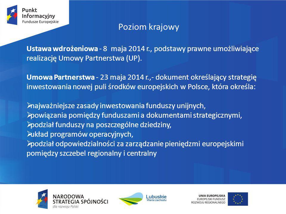 Najważniejsze zasady FE 2014-2020 Koncentracja tematyczna - oznacza skupienie możliwości finansowania na określonych obszarach priorytetowych.