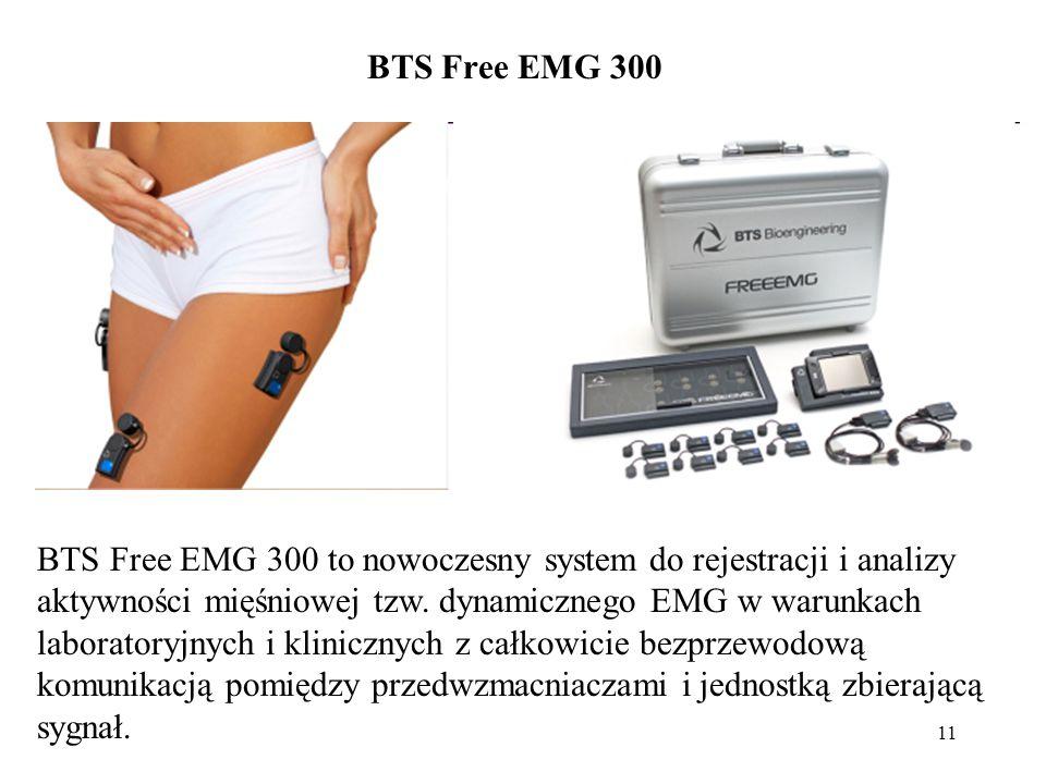 11 BTS Free EMG 300 to nowoczesny system do rejestracji i analizy aktywności mięśniowej tzw. dynamicznego EMG w warunkach laboratoryjnych i klinicznyc