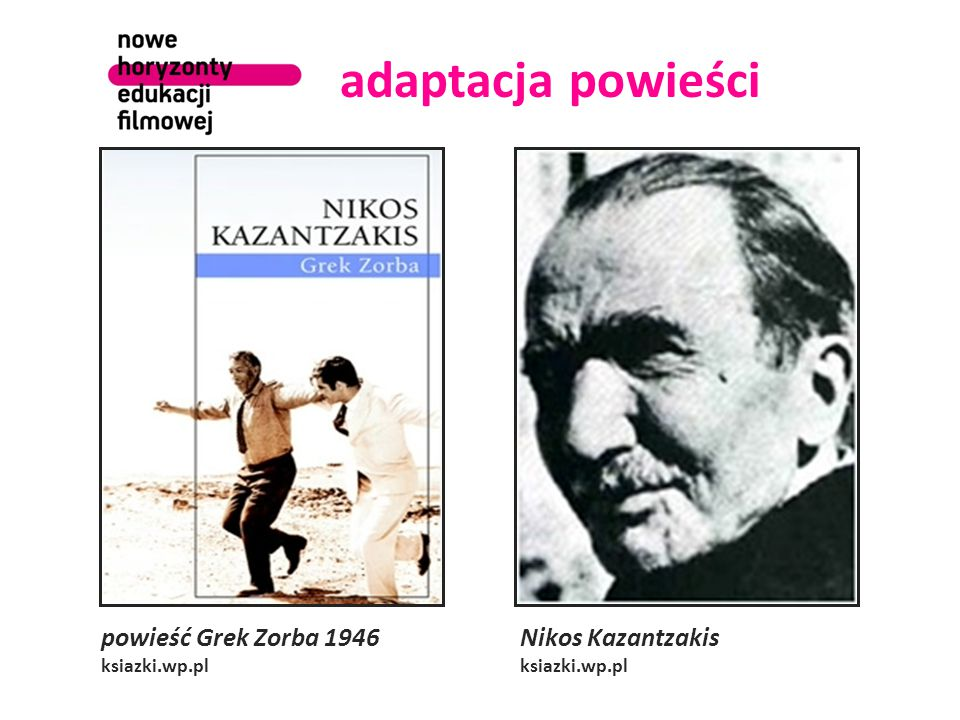 adaptacja powieści powieść Grek Zorba 1946 ksiazki.wp.pl Nikos Kazantzakis ksiazki.wp.pl