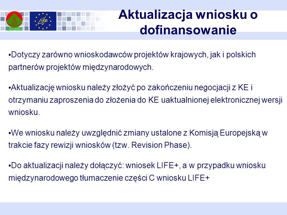 Dotyczy zarówno wnioskodawców projektów krajowych, jak i polskich partnerów projektów międzynarodowych.