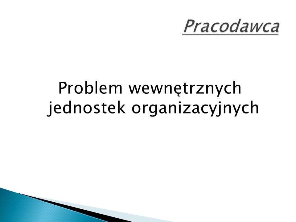 Problem wewnętrznych jednostek organizacyjnych
