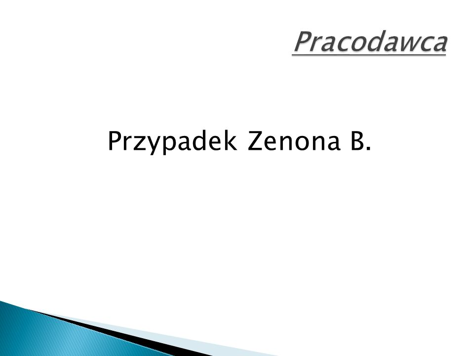 Przypadek Zenona B.